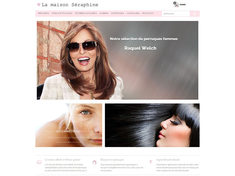 creation site Ecommerce perruque